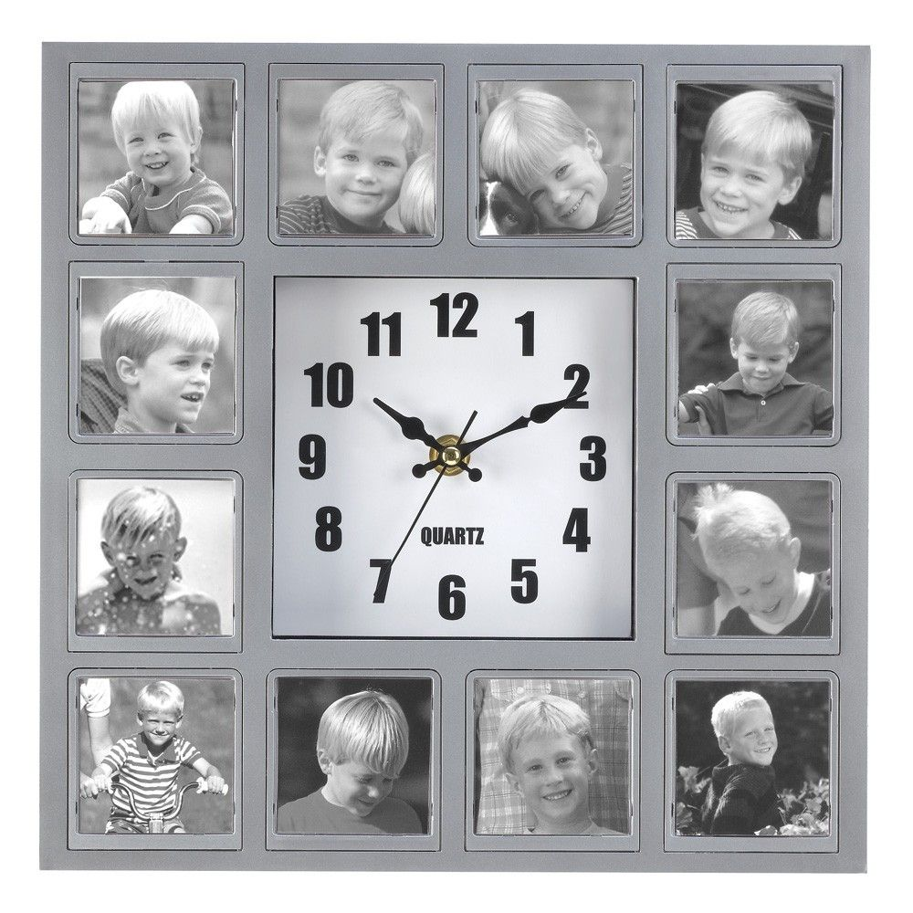 PHOTO COLLAGE WALL CLOCK - Eaglecraz Gifts