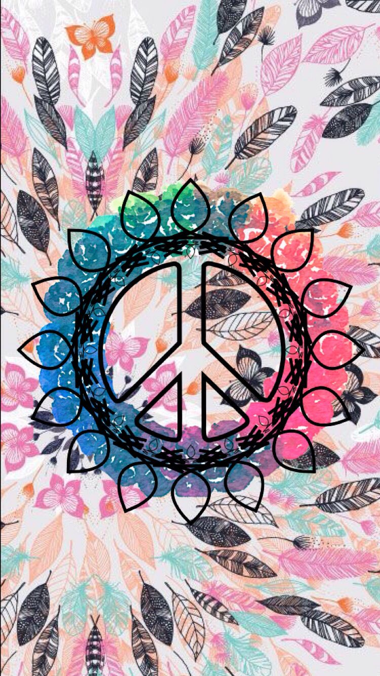 American Hippie Art ☮ Pattern Design Wallpaper .. Peace