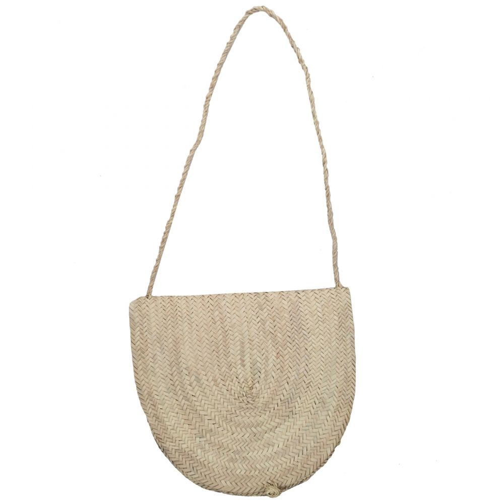 a710bc09ca Round wicker basket bag rote handle long rote handle