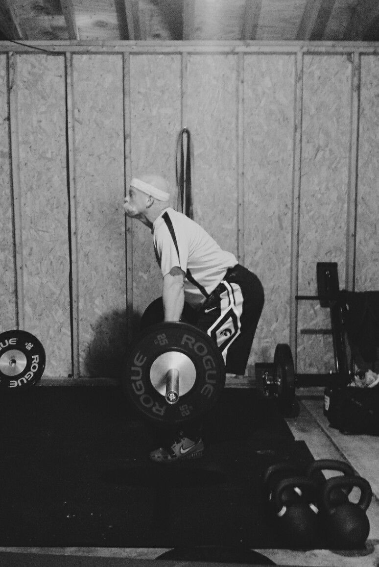 Master Class Olympic weightlifting competitor getting his skill work in