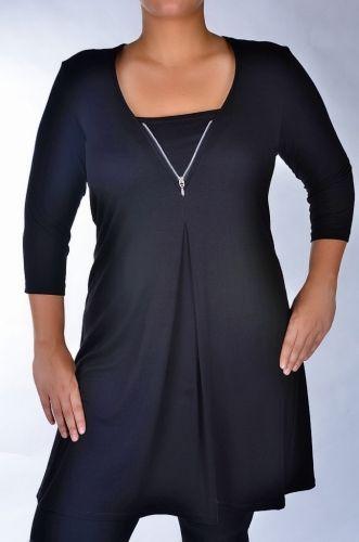 Romia fekete  Nagyméretű női ruha-Molett Ruha   af272efa95