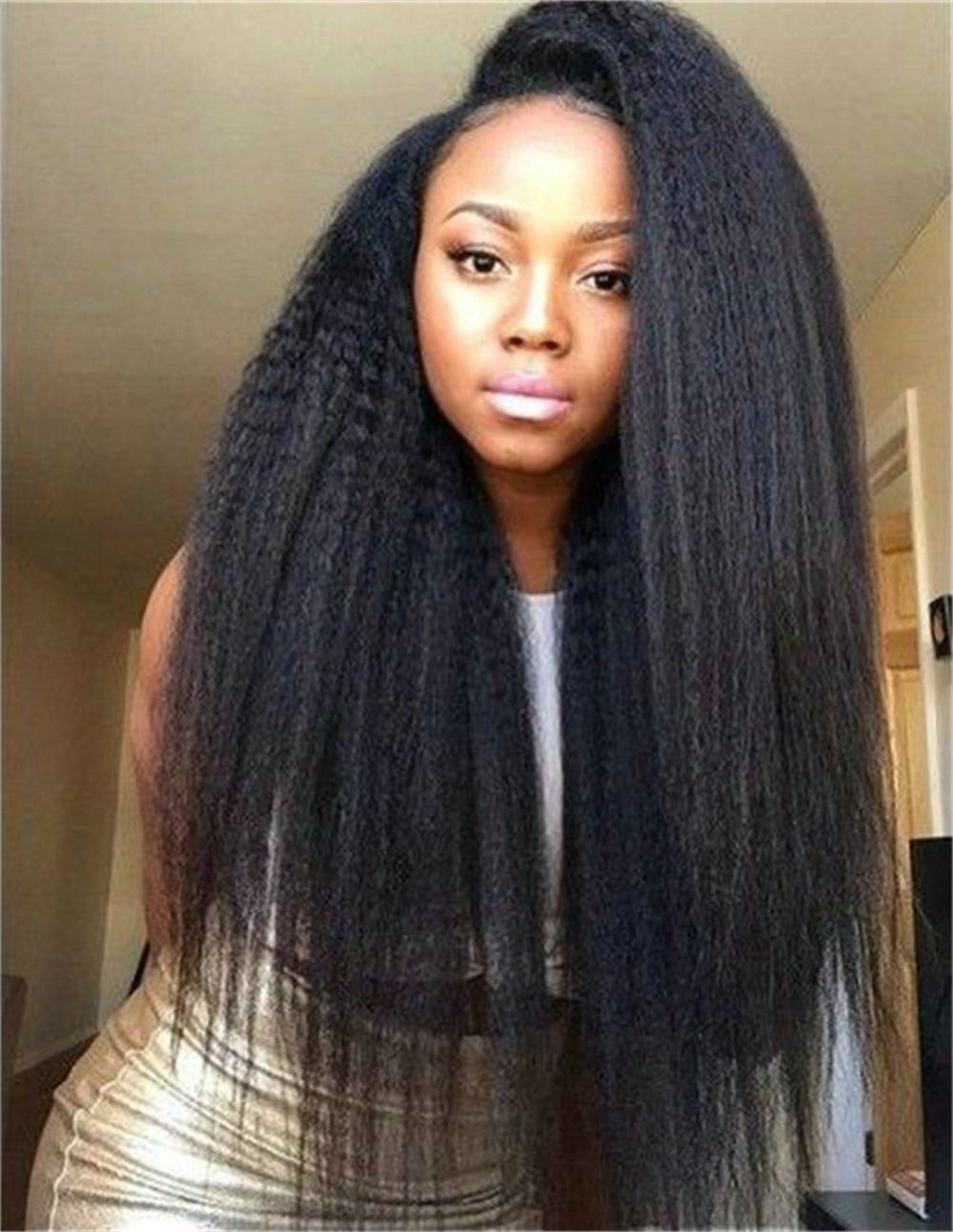 Long Black African American Hair Women Medium Haircut LONG HAIR
