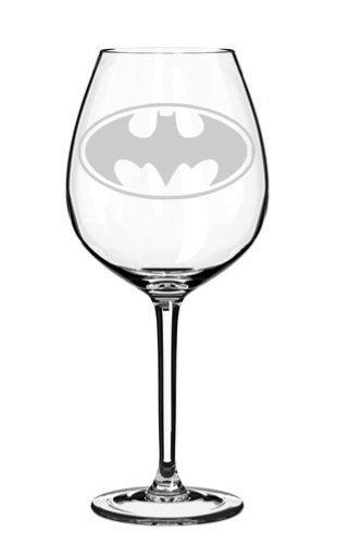 Bat Signal ***SEE ITEM DESCRIPTION*** Stemless Wine Glass