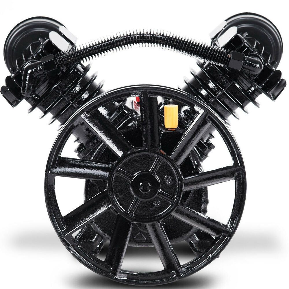 Details about Air Compressor Pump Twin Piston Double Motor