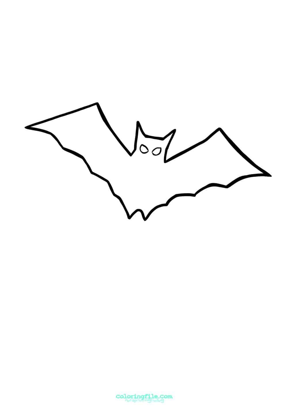 Easy To Draw Halloween Bat Coloring Pages Bat Coloring Pages