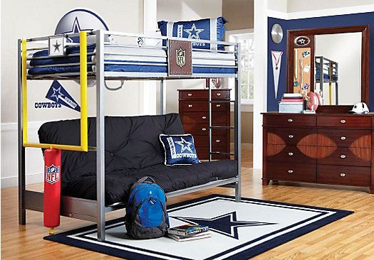Picture Of Nfl Redzone 6 Pc Twin Futon Loft Bedroom From Boys Sets Furniture