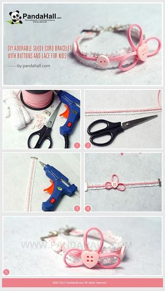 DIY Adorable Suede Cord Bracelet with Buttons ... | Jewelry Making Tu…