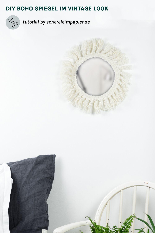 20 minuten diy quickie: boho spiegel selber machen