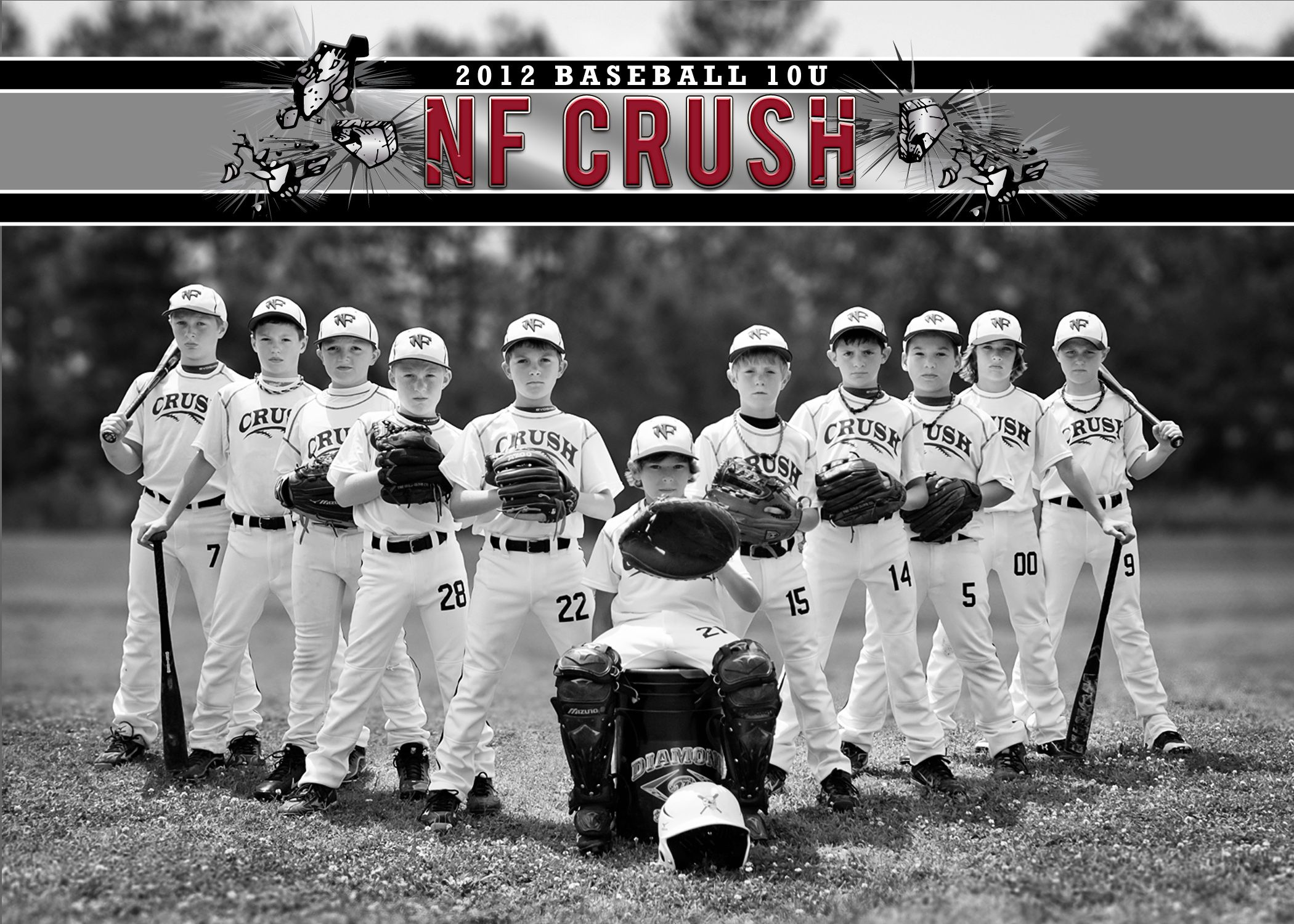 Team picture... Cute idea for team photo of a baseball ...