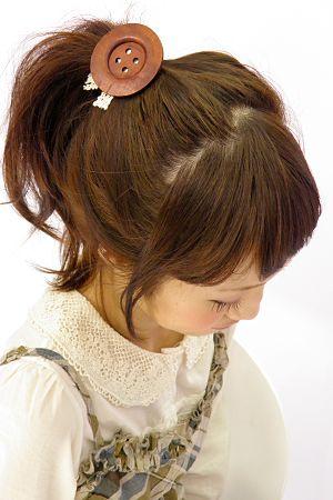 adorable button hair scrunchy
