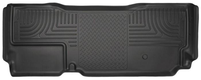 2011 2016 F250 Super Duty Super Cab Husky Weatherbeater Rear Floor Mat Black 19721 In 2020 Floor Liners Liner Husky Liners