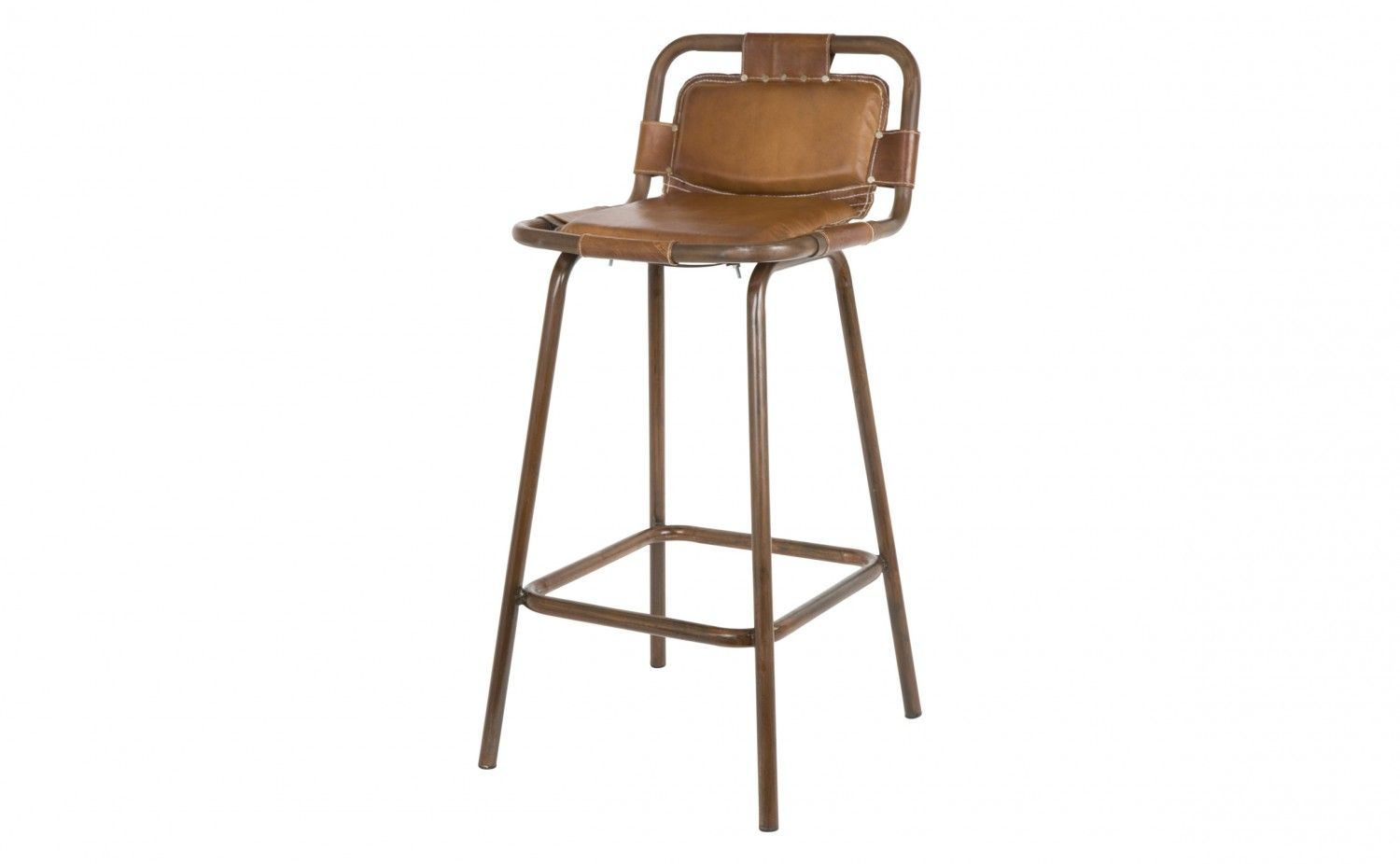 Outstanding Distressed Leather Upholstery Steel Frame Sling Like Sit Gmtry Best Dining Table And Chair Ideas Images Gmtryco