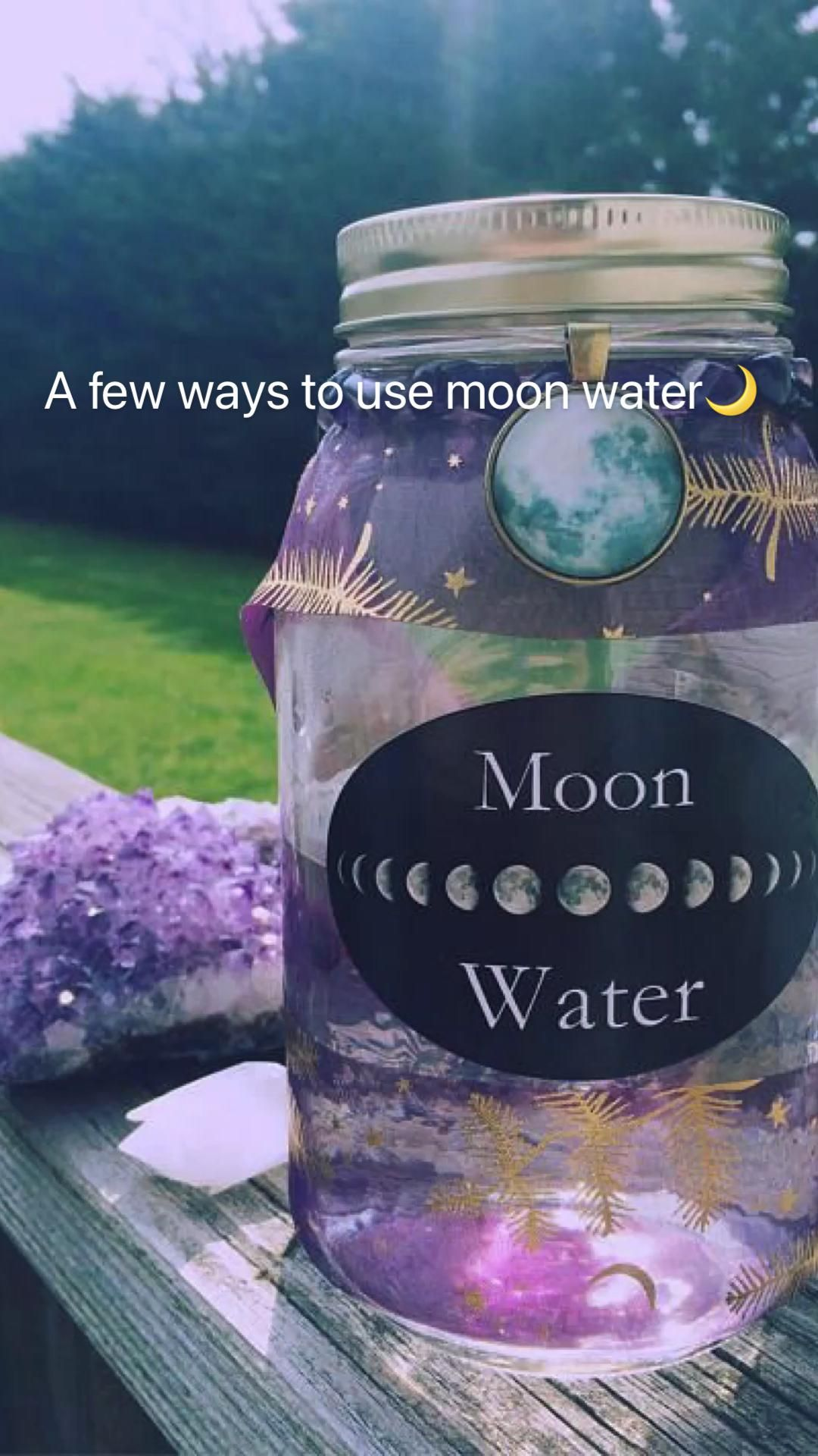 A few ways to use moon water🌙