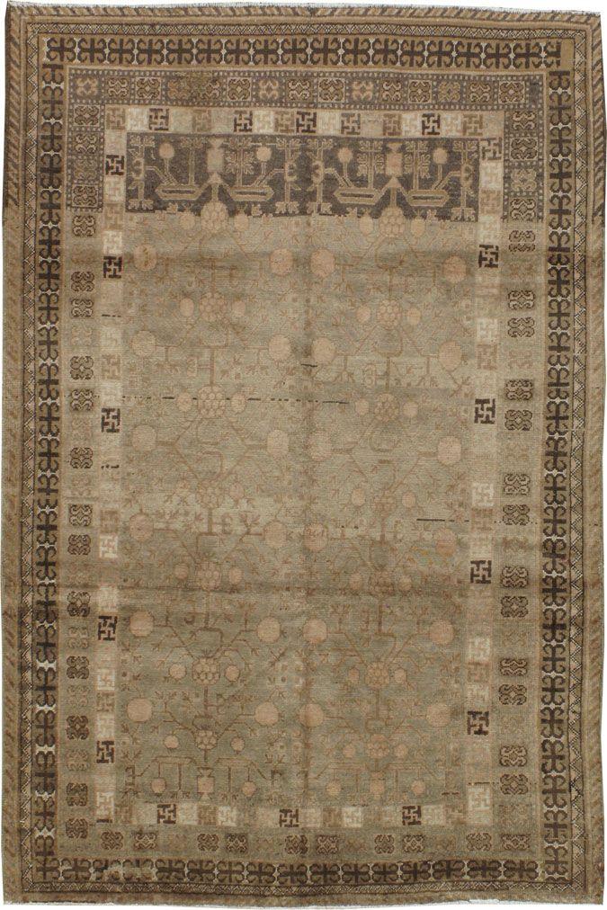 Antique Khotan Rug, No. 16473 - 4ft. 5in. x 6ft. 7in.