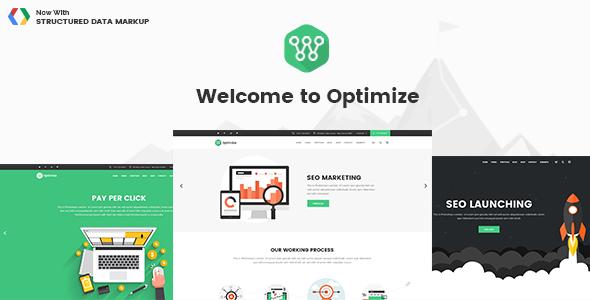 Optimize v1.2  SEO Digital Marketing Social Media Theme  Blogger Template
