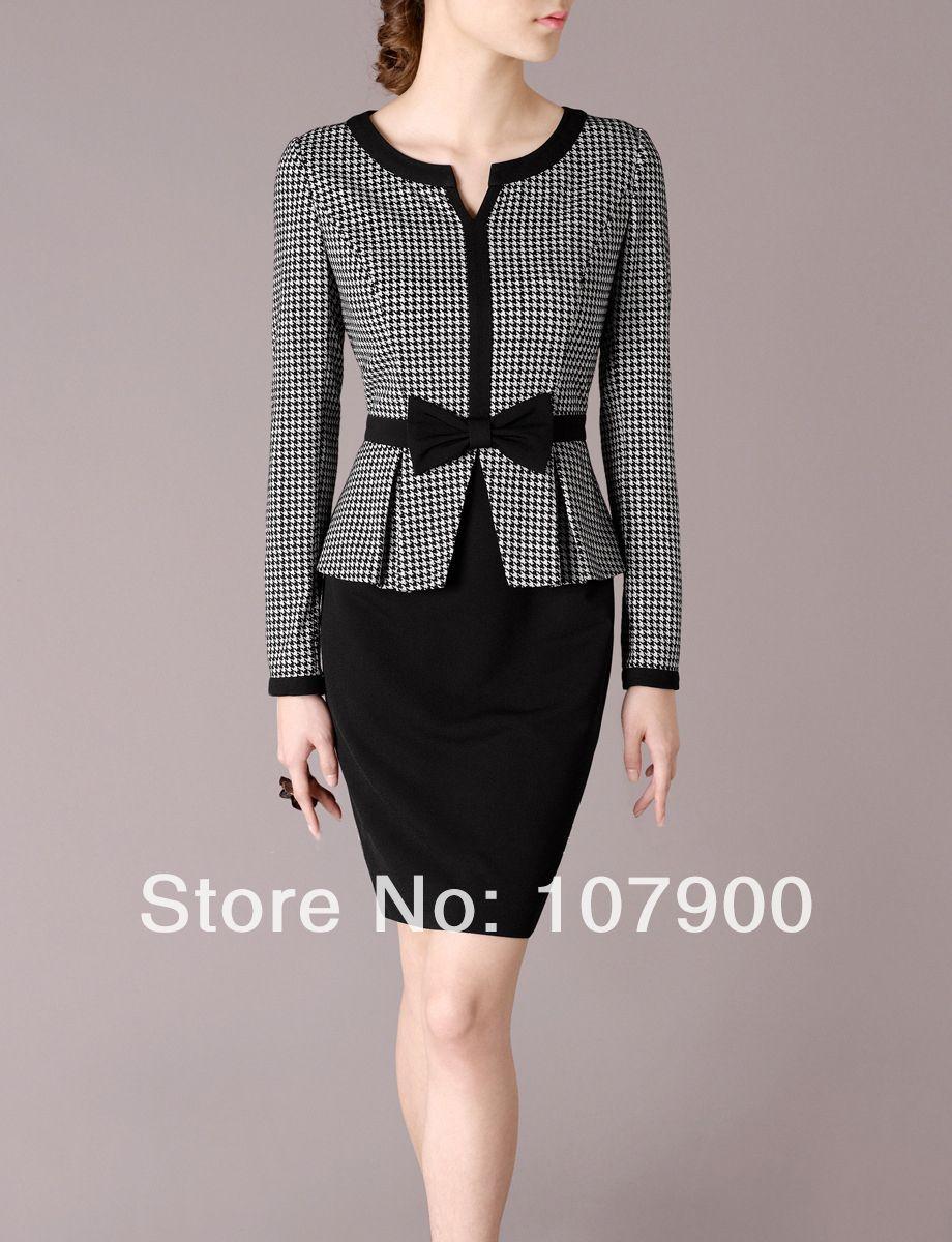 2014-New-Long-Sleeve-Elegant-font-b-Dress-b-font-Fashion-Women-font-b-Work-b.jpg (920×1200)