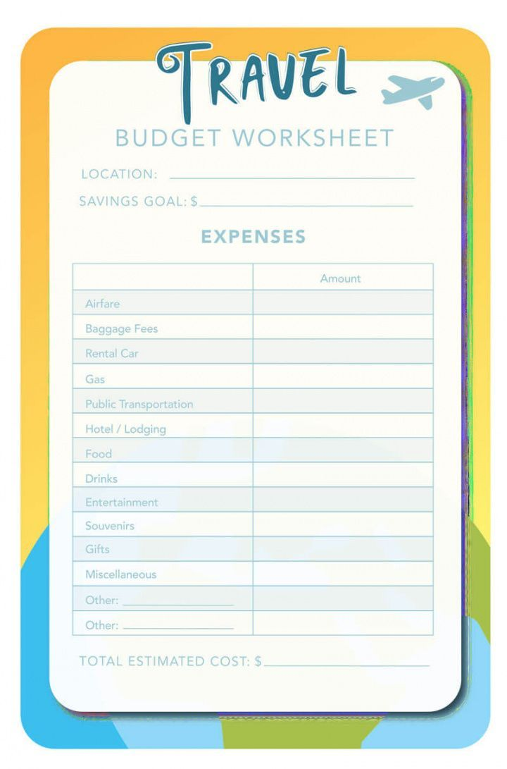 Explore Our Sample of Vacation Budget Planner Template for ...