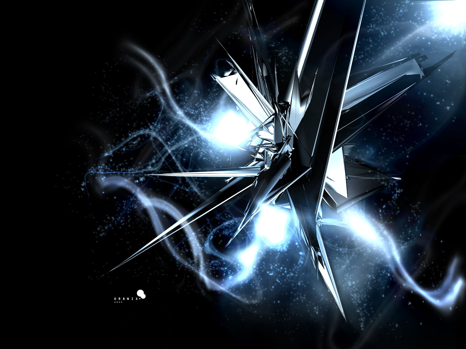 3D abstract artwork black crystals wallpaper (#1509) / Wallbase.cc | Light | Pinterest ...