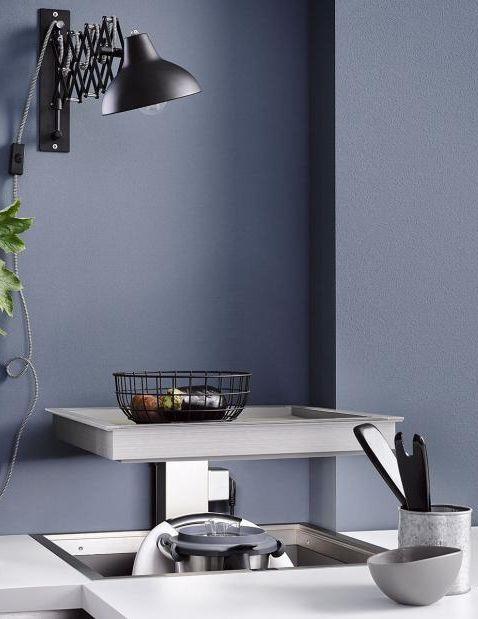 Wandfarben in der Küche Moderne Küche in Blau