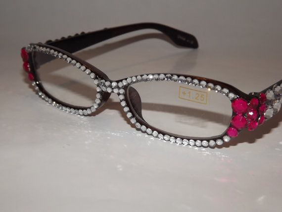 60276036863 Rhinestone Bling Reading Glasses by EVRhinestones on Etsy