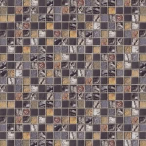 12 in x 12 in BlackGold Medley Mosaic Tile-99204 at The Home Depot