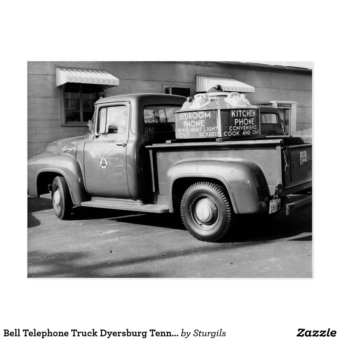 Bell Telephone Truck Dyersburg Tennessee Postcard Zazzle