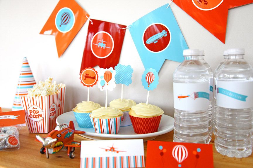 Airplane Party Collection Printable DIY PDF Come Fly with Me Boys