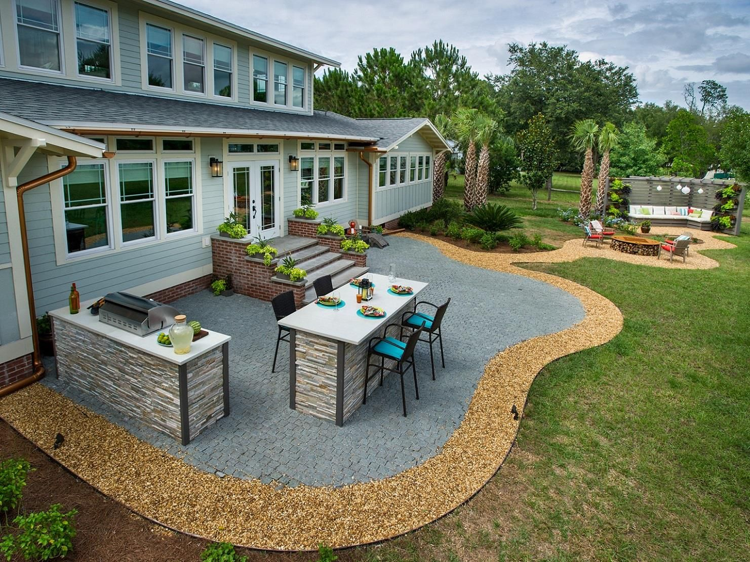Do It Yourself Patio Design Ideas and Features Backyard