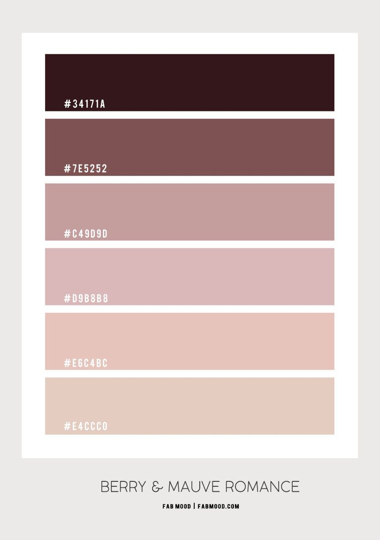 Farbe Mauve Taupe Berry And Mauve Romance Bedroom | Color Palette Pink, Bedroom Colour Palette, Bedroom Color Schemes