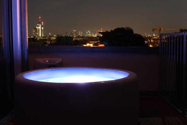 A Softub with a view