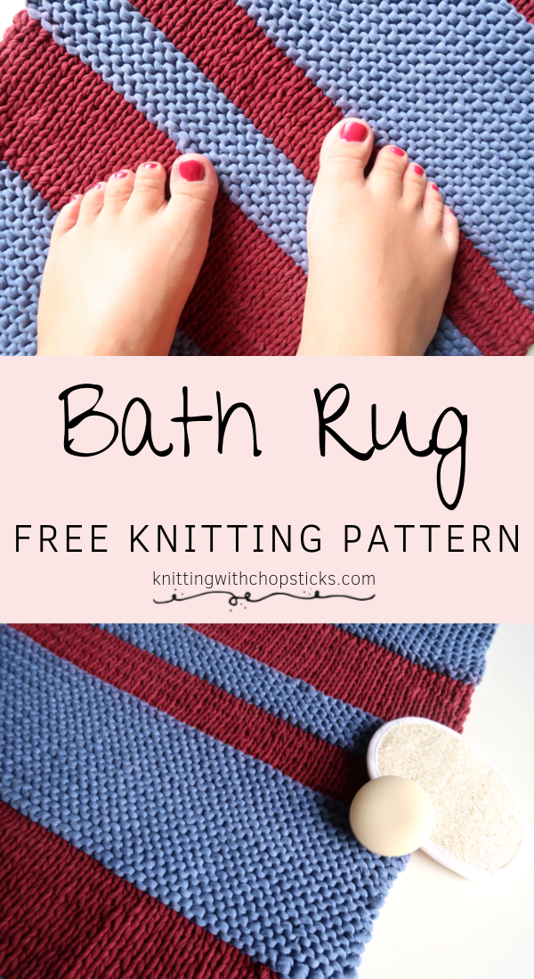 Chunky Knit Rug Pattern Knitting With Chopsticks Knit Rug Rug Pattern Designer Knitting Patterns