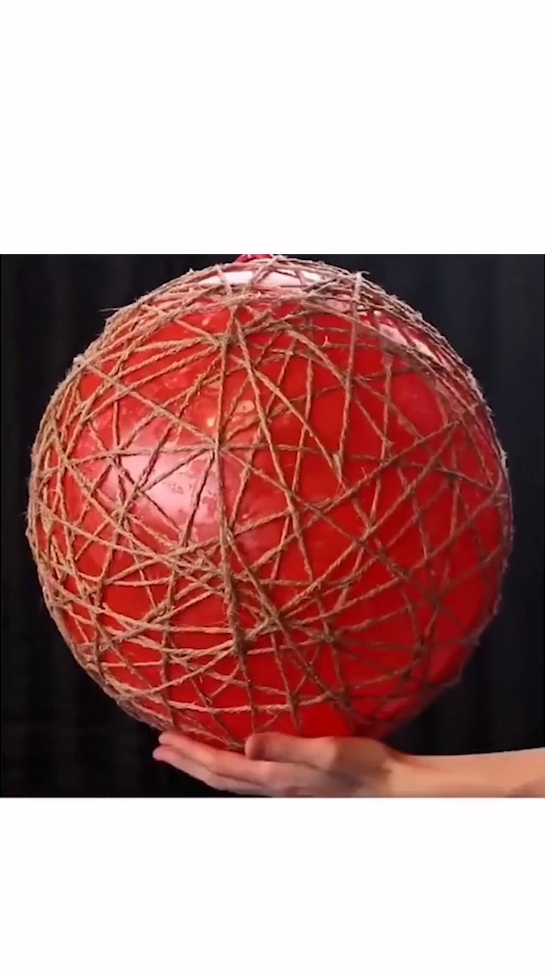 DIY-How to Make a Large Rattan Ball in 3 Steps - D