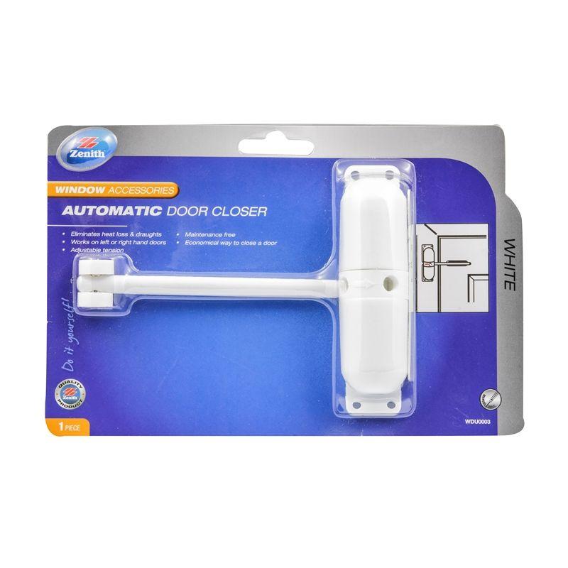 Zenith White Automatic Easy Close Door Closer Closed Doors Window Accessories Doors