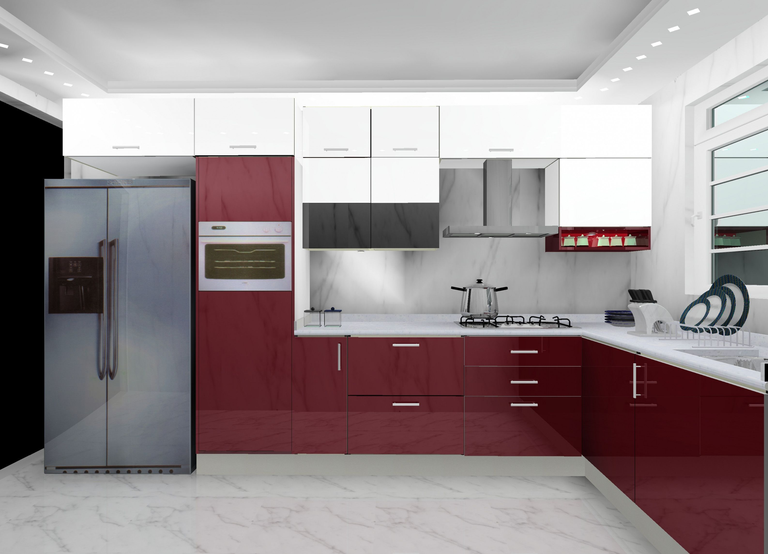 Modular Kitchen Design Delhi Ideas A contempo assay performed by ...