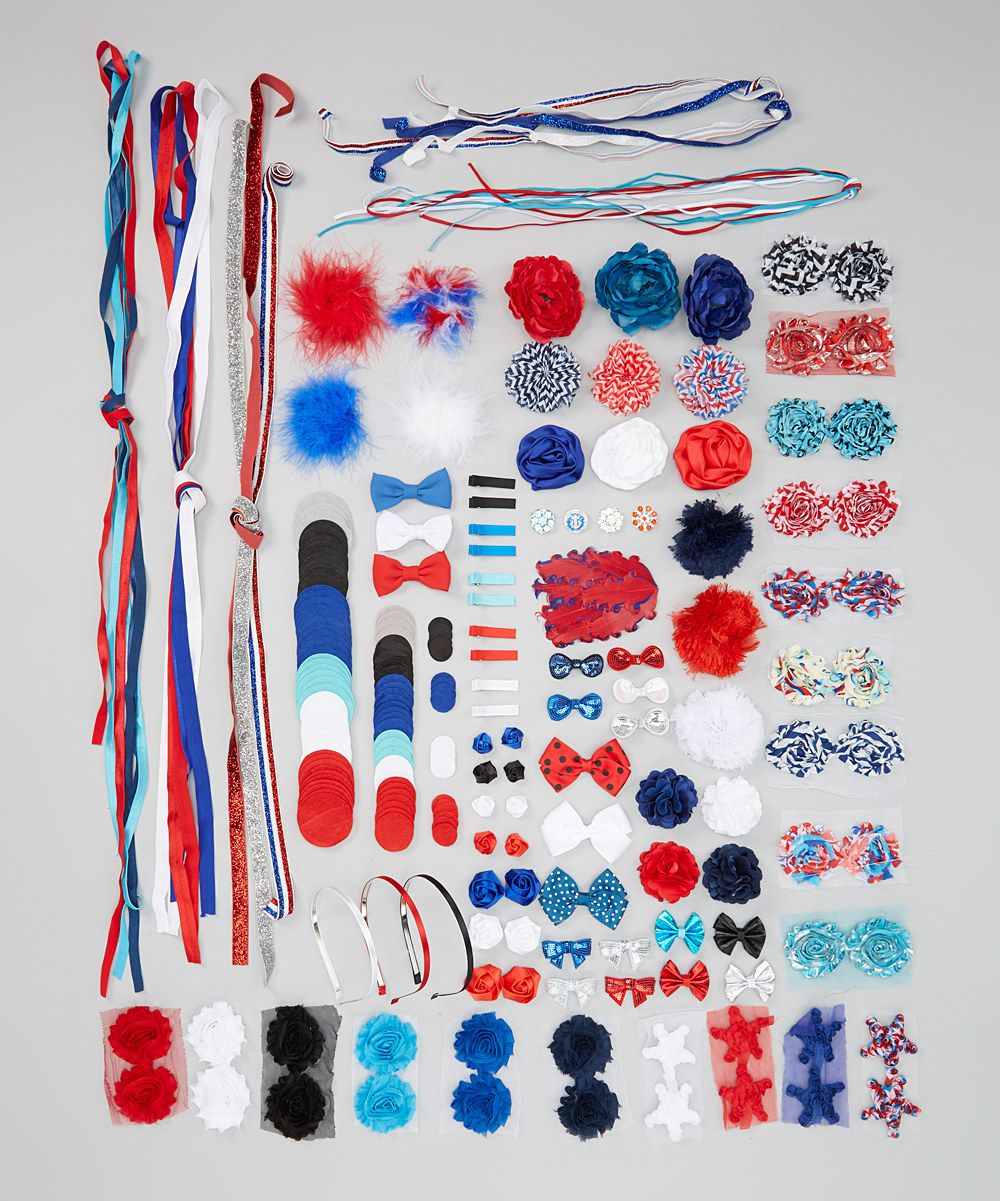 This Red & Blue Hair Accessory Kit by My Sunshine Shoppe is perfect! #zulilyfinds