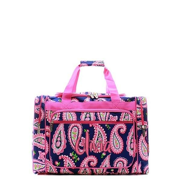 Beautifully monogrammed duffle bags include a personalized name or monogram  in custom embroidery. Personalized Travel Bags for kids, gym bags, ...