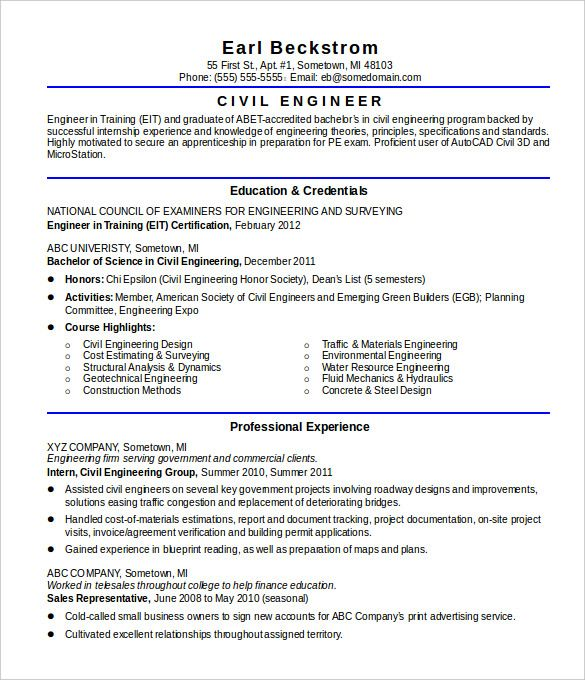 Pdf Doc Free Premium Templates Engineering Resume Engineering Resume Templates Civil Engineer Resume