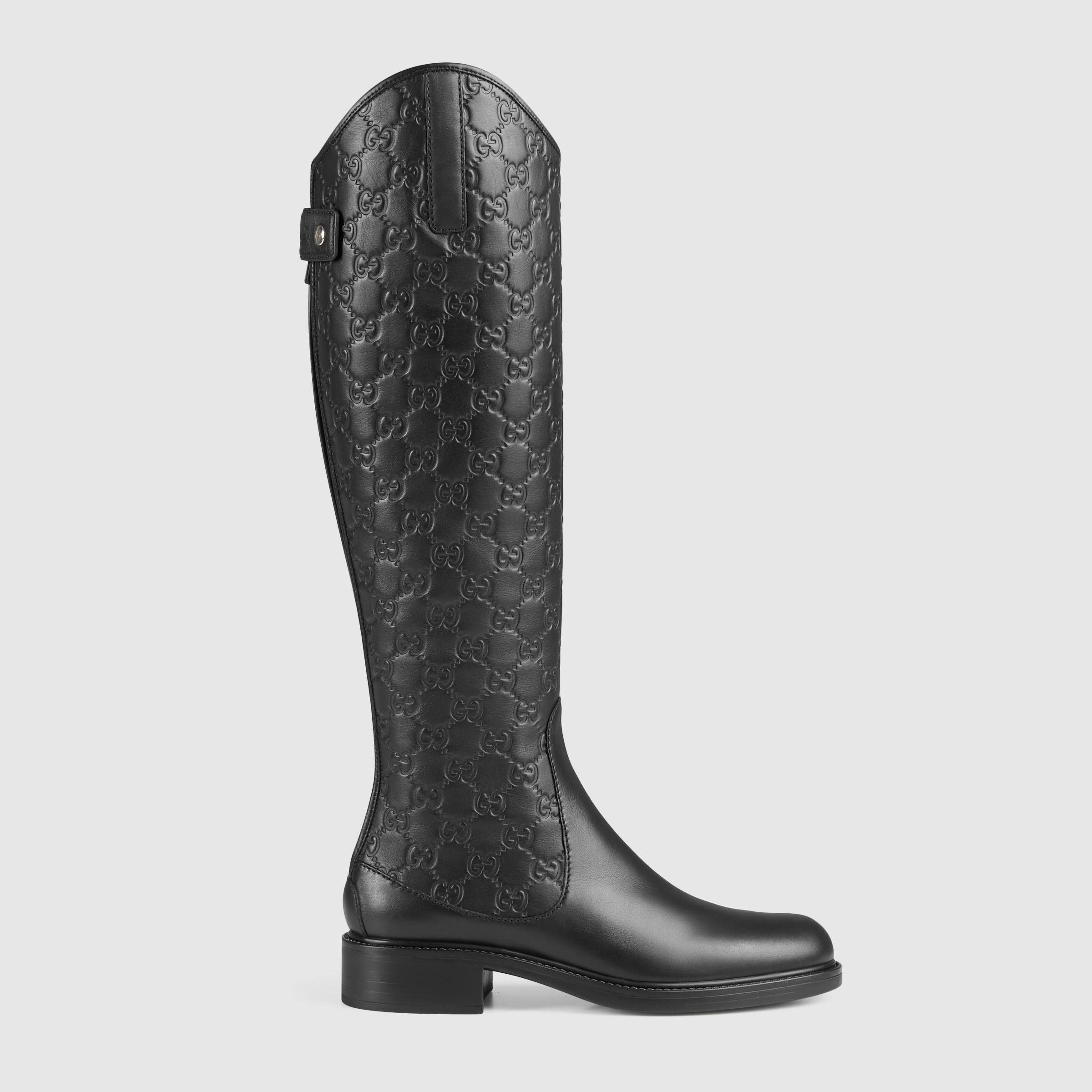 Gucci Women - Maud leather knee boot - 296161A9L201000