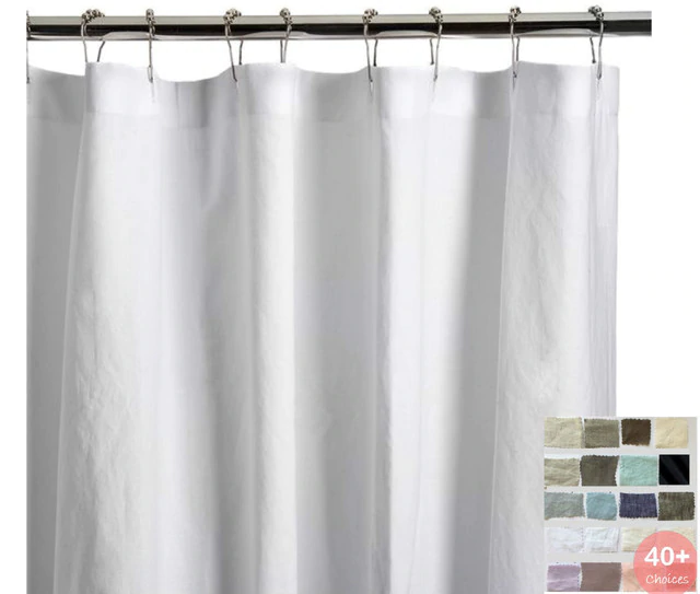 Amazon Com N Y Home Short Shower Curtain Liner Fabric 72 X 65 Shorter Length Hotel Quality Cool Shower Curtains Fabric Shower Curtains White Shower Curtain