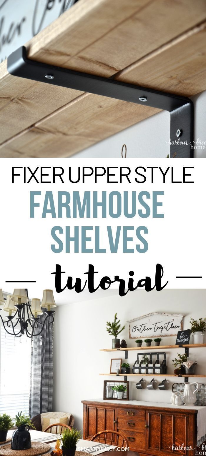 How to Make Fixer Upper Style Farmhouse Shelves | Harbour Breeze Home