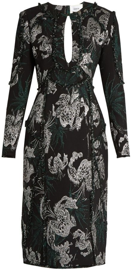 ERDEM Chrissy jacquard dress