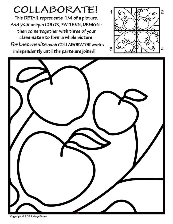 Radial Symmetry (2) COLLABORATIVE Activity Coloring Pages ...