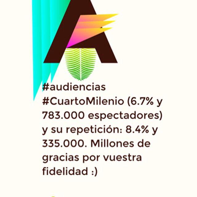 audiencias #CuartoMilenio (6.7% y 783.000 espectadores) y su ...