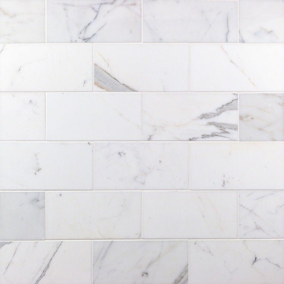 Calacatta 4x8 Polished Marble Tile Marble Subway Tiles Polished