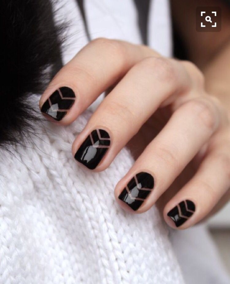Black and cleat cut out design nail design | Cutout Nail Designs ...