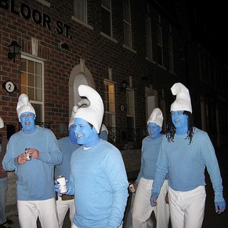 Smurfs Group Costume Idea  #Halloween #Costumes #Group