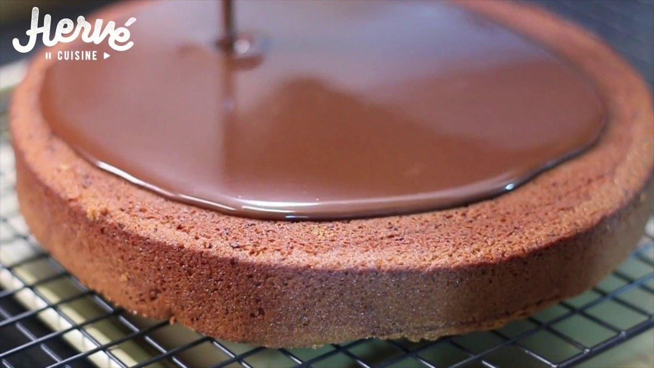 Hervé Cuisine Gateau Chocolat | Moelleux Chocolat Glacage Miroir Bonus Herve Cuisine Glacage
