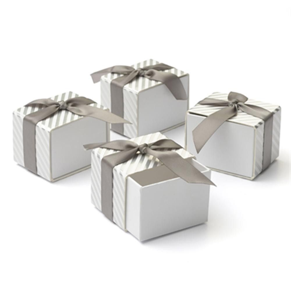 Silver Wedding Favor Boxes | Wedding Favors | Pinterest | Silver ...