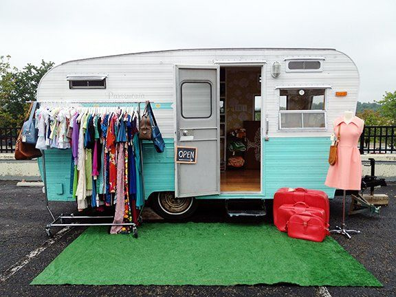 Beth Styles was intent on expanding her business beyond internet sites but lacked the money to open a traditional storefront. So she bought a 1960 Holly travel trailer,  and converted it into a mobile boutique for her business, Parsimonia which calls St. Louis home base.  Now, she and Holly make house calls and roll up to craft fairs with a store on wheels. Inside, customers can find an array of merchandise.  She says she keeps her merchandise carefully curated for modern tastes.