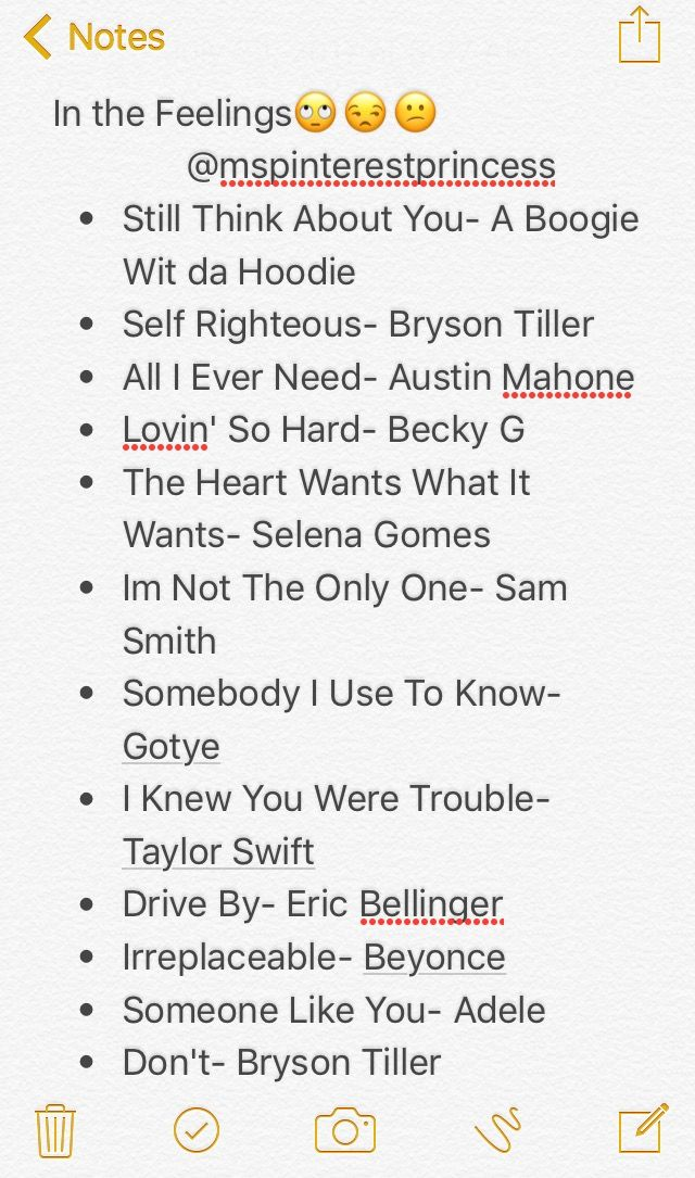 In The Feelings Playlist Follow Me For More